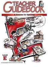 A Reason for Spelling Level e Teacher Guidebook (1972, Paperback, Teacher's Edi…