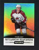 2017-18 UD Upper Deck Synergy Noteworthy Newcomers #NN-8 Tyson Jost