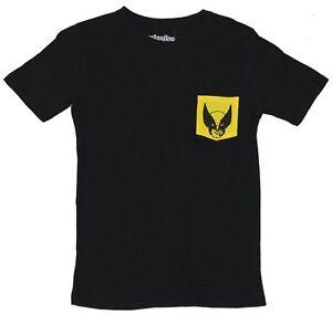Wolverine (Marvel Comics) Mens T-Shirt  - Yellow Face Pocket Image