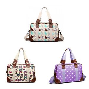 Final Stock 3PCS Women Oilcloth Maternity Weekend Shoulder Bag Tote Handbag