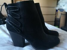 Just Fab Suede Ankle Boot Size 9