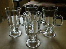 Set of 4 Libbey MILAN Irish Coffee Cup Mug Set 8.25 oz Stem Glass Drinkware