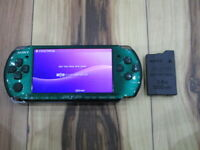 Sony PSP 3000 console Spirited Green w/battery pack Japan B765