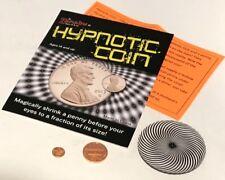 HYPNOTIC COIN SHRINKING PENNY MAGIC TRICK Spiral Disc Dime Beginner Pocket Set