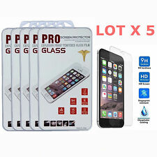 5x Wholesale Lot Tempered Glass Film Screen Protector For Apple iPhone 6s Plus