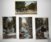 LOT OF 4 WATKINS GLEN  NY NEW YORK  ANTIQUE  POSTCARDS