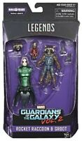 Marvel Legends Guardians Of The Galaxy Vol. 2 Rocket Raccoon With Kid Groot Acti