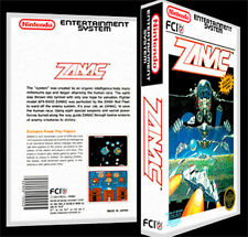 Zanac - NES Reproduction Art Case/Box No Game.