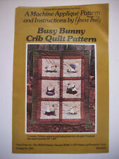 Busy Bunny crib baby quilt pattern rabbit fish hike breakfast rain applique