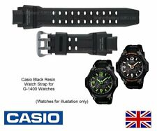 GENUINE CASIO Watch Strap Band for G-1400, G-1400-1A - 10401141 - Black Resin