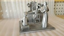 1978 Incredibly Detailed Franklin Mint Pewter Figurine/Sculpture-Millin ery Shop