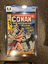 Conan the Barbarian #3 vs The Grim Grey God CGC 6.5 1/1971 Bronze Age FREE SHIP