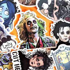 10 Tim Burton Film Stickers, Horror Movie Stickers, Beetlejuice, Corpse Bride