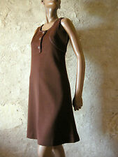 CHIC VINTAGE ROBE JERSEY CHASUBLE 60s DRESS VTG SIXTIES ANNEES 60 ABITO (36)