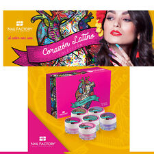Nail Factory - Corazon Latino 15 Piece Acrylic Collection - Works W Dip System