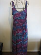 (NEW ) A LOVELY STYLISH  PER UNA MIXED COLOUR DRESS SIZE 16R  LENGTH APPROX 32