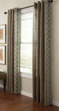 "84/"" Long Grommet Curtain Panels 2 Diamond Sky Gray Martha Stewart Living"