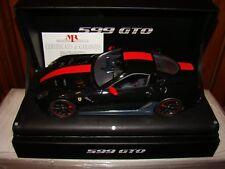 FERRARI 599 GTO NOIR / RED STRIPE  MR COLLECTION 1/18 EME   LIMITED  02/25 PCS