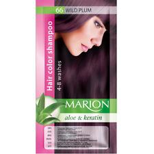 Marion Hair color shampoo sachet (lasting 4-8 washes) Aloe & Keratin 66