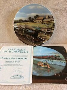 Collectable Davenport Pottery 'Sharing The Sunshine' Decorative Plate No. 3070 D