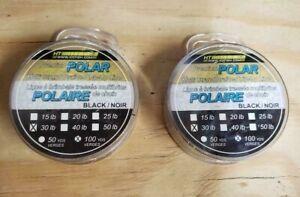 Lot of 2 30lb  Premium POLAR MULTI-STRAND Braided Tip-up Line Ice IL-1030
