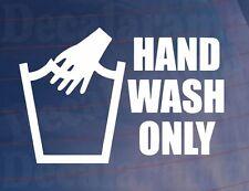 Hand Wash Only lustig Neuheit Spaß Auto/LKW/Fenster / stoßstange aufkleber