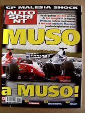 AUTOSPRINT n°12 2002 Test ALFA 147 Cup - Speciale Gp Malesia   [P58]