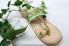 US Ethnic Shoes Indian Shoes For Women Handmade Ethnic Chappal Kolhapuri HH299