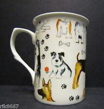 1 Dogs Dogs Dogs Fine Bone China Mug Cup Beaker