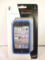 iCONCEPTS 2 PACK BLUE/CLEAR iPOD TOUCH 4 GEL CASE
