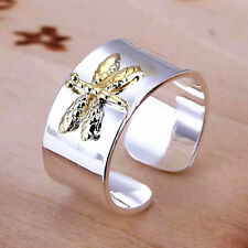 925 Silver Plated Adjustable Dragonfly Ring/Thumb Ring Women Jewelry *UK Seller*