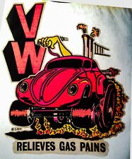 NOS 70s GAS Volkswagen Beetle Bug Dune Buggy Hippie Hippy vTg DS T-shirt iron-on