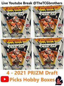 Detroit Lions Break 466 PRIZM Draft Picks Hobby Box 2021 1/4 Case