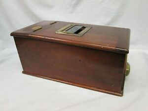 Antique Wooden Cash Register with Drawer. Ideal Restoration.Browns the Busy Bee.