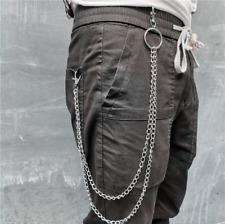 Men Double Link Metal Pants Wallet Chains Biker Trucker Punk Jean Key Chain
