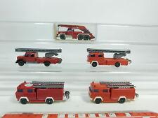 bd348-0, 5 # 5x WIKING H0 / 1:87 Camión Magirus BOMBERO / FW: 610+630+62n etc. ,