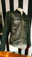 AllSaints Black Leather Jacket SMALL Spitalfields Jacks Place Rockstar Vintage