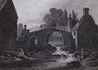 1813 DATED SCOTLAND PRINT ~ HAWICK ROXBURGHSHIRE