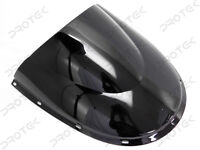 ABS Smoke Black Double Bubble Windscreen Windshield for Ducati 748 916 996 998