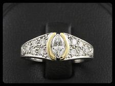 Wempe Navette Brillant Ring 0,71ct (Gravur)   585/- Weißgold