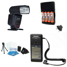 YONGNUO YN560 IV YN560IV Wireless Flash + SF18 Flash Battery Pack Kit 4AA Rechar
