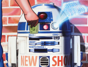 """R2-D2 """"Ticket Machine"""" Star Wars Limited Edition Digital Signed Poster"""