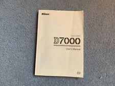 Nikon D7000 Manuel de l'utilisateur