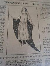"""PATRON ORIGINAL POUR LA POUPEE LISETTE  """"COSTUME AU ROYAUME DES FEES 1923"""