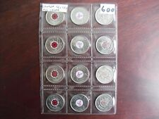Canada 12 coins collection Remembrance Day Poppy Breast Cancer 2004 2006 2008