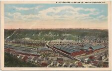 Westinghouse Air Brake Co. Near Pittsburgh PA Postcard 1919