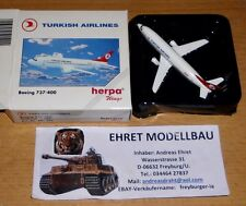 Boeing 737-400 Turkish Airlin  1:500 Herpa Wings 501224  Privatsammlung (2)  Neu