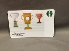 Rare Starbucks coffee 2015 Co-Branded Corporate Card ID Protect Trophy no value