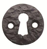 Fullbrook 7101 Black Cast Iron Antique Escutcheon Keyhole Plate