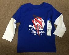"Okie Dokie ""Varsity Football League"" Blue Cotton Shirt - Size 12 Months - NEW"